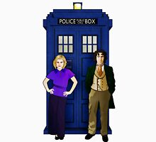 The 8th Doctor and Charley Women's Fitted Scoop T-Shirt