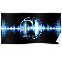 PI Radio Logo (Light Blue) Poster