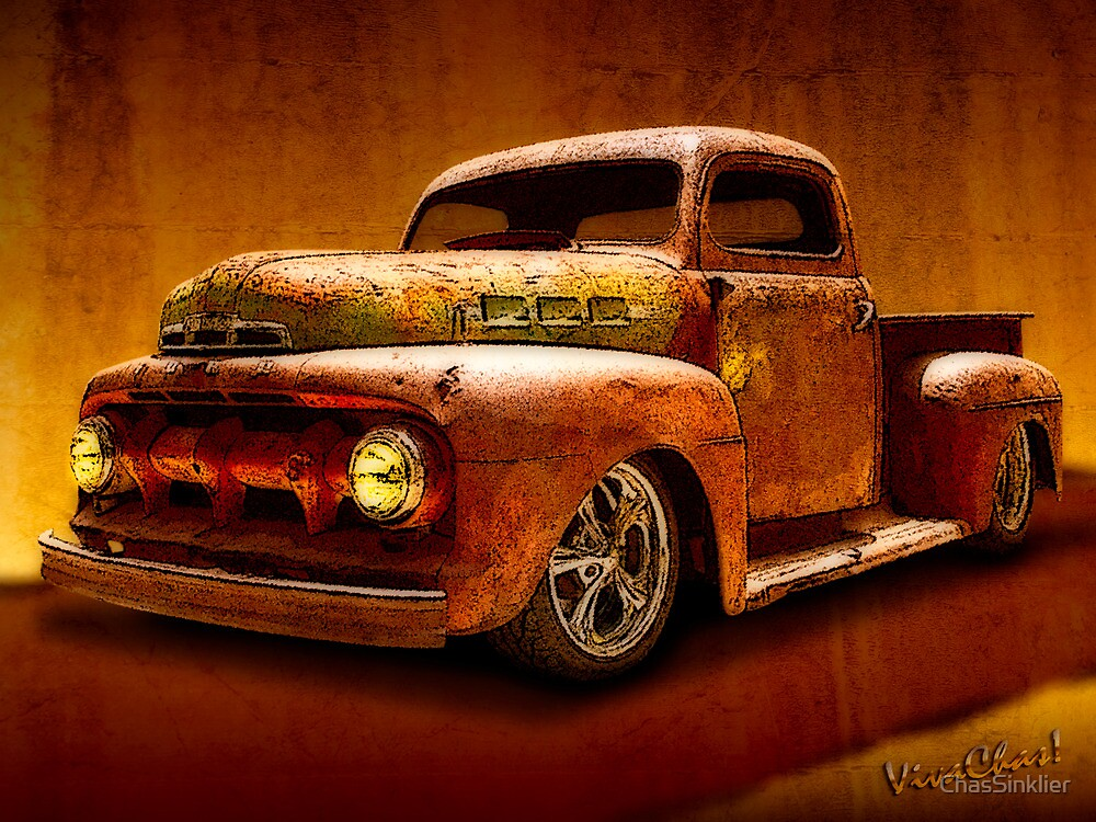 Ratty Pickup Tearing Down the Road Making Some Noise by ChasSinklier