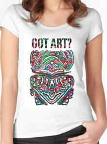 Got Art - Santa Cruz Women's Fitted Scoop T-Shirt