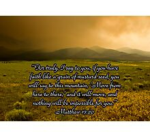 Colorado Mountainscape with Scripture Photographic Print
