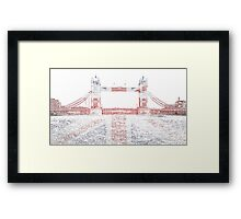 Union Jack Tower Bridge, London Framed Print