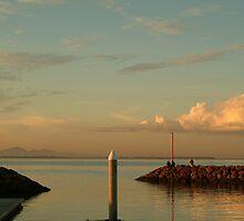 Joe Mortelliti Gallery - Sunset, Limeburner's Point boat harbour, Geelong, Victoria, Australia. by thisisaustralia