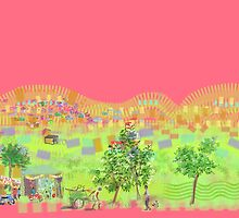 Delhi shanty or town by Helen Imogen Field