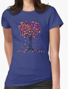 Love in the Fall Womens Fitted T-Shirt
