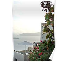 Santorini- Fira Poster