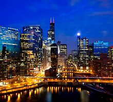 Chicago River Cityscape by Daisy Yeung
