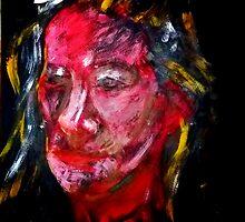 Portrait on black by AdagioArt