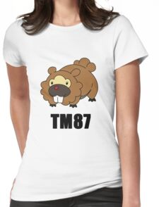 Bidoof Swagger (No Glasses) Womens Fitted T-Shirt