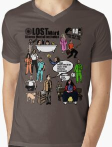 Lost Dharma Looney Bin Mens V-Neck T-Shirt