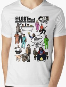 Lost Dharma Looney Bin Mens V-Neck T-Shirt