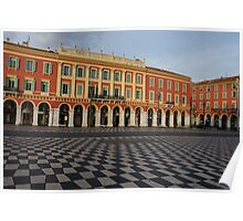 Nice, France, French Riviera - the Cheerful Colors of Place Massena  Poster