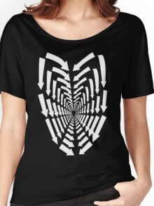 (Arrows) White Heart Women's Relaxed Fit T-Shirt
