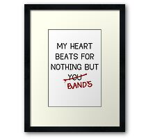 Nothing But Bands Framed Print