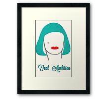 Teal Ambition  Framed Print