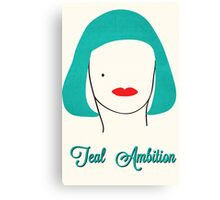 Teal Ambition  Canvas Print