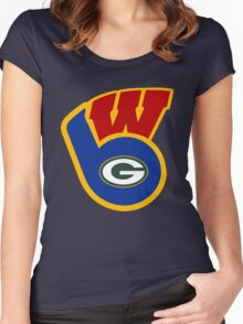 Packers Badgers Brewers Women's Fitted Scoop T-Shirt