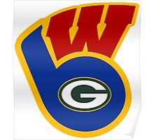 Packers Badgers Brewers Poster