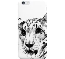 Charcoal Snow Leopard iPhone Case/Skin