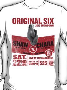 Blackhawks Shaw VS. Chara retro boxing flyer shirt. T-Shirt