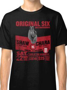 Blackhawks Shaw VS. Chara retro boxing flyer shirt. Classic T-Shirt