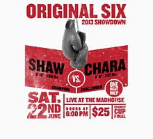 Blackhawks Shaw VS. Chara retro boxing flyer shirt. Unisex T-Shirt