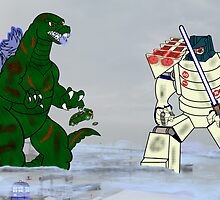 SDCC vs Godzilla by DavinciSMURF