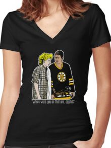 """Happy Gilmore - """"Where were you"""" Women's Fitted V-Neck T-Shirt"""