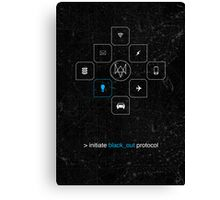 Black_out Protocol Canvas Print