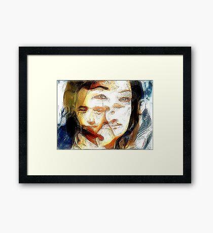 Emotional indecision Framed Print