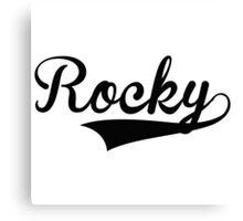 Baseball Style Rocky Canvas Print
