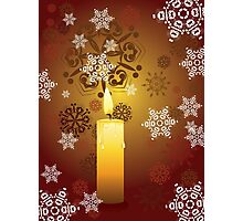 Candle and Snowflakes 3 Photographic Print