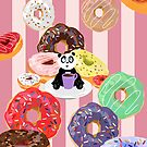 Panda & Donuts by Adamzworld