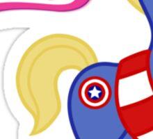 My Little Venger: Captain America Sticker