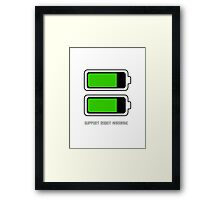 Support Robot Marriage Framed Print