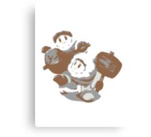 Minimalist Ice Climbers from Super Smash Bros. Brawl Canvas Print