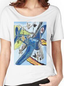 Corsair Snoopy the All Time Flying Ace Women's Relaxed Fit T-Shirt