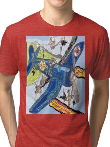 Corsair Snoopy the All Time Flying Ace Tri-blend T-Shirt
