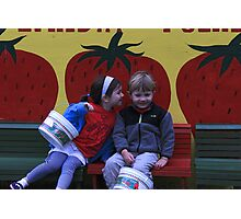 True Love and Strawberries Photographic Print