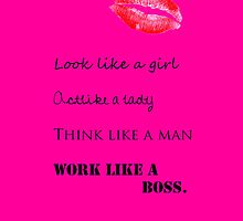 Act like a lady, work like a boss iPhone case by flaaaash