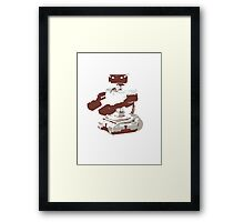 Minimalist R.O.B. from Super Smash Bros. Brawl Framed Print