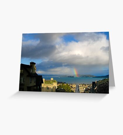 Rainbow on the Bay Greeting Card