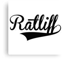 Baseball Style Ratliff Canvas Print