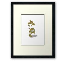 Minimalist Lucas from Super Smash Bros. Brawl Framed Print