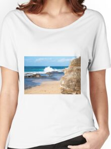 Rocks and waves at Point Cartwright  Women's Relaxed Fit T-Shirt