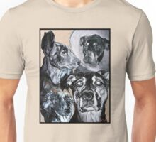Sketched Dogs Collage Unisex T-Shirt