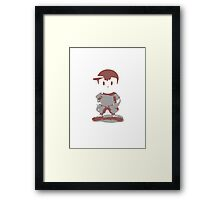 Minimalist Ness from Super Smash Bros. Brawl Framed Print