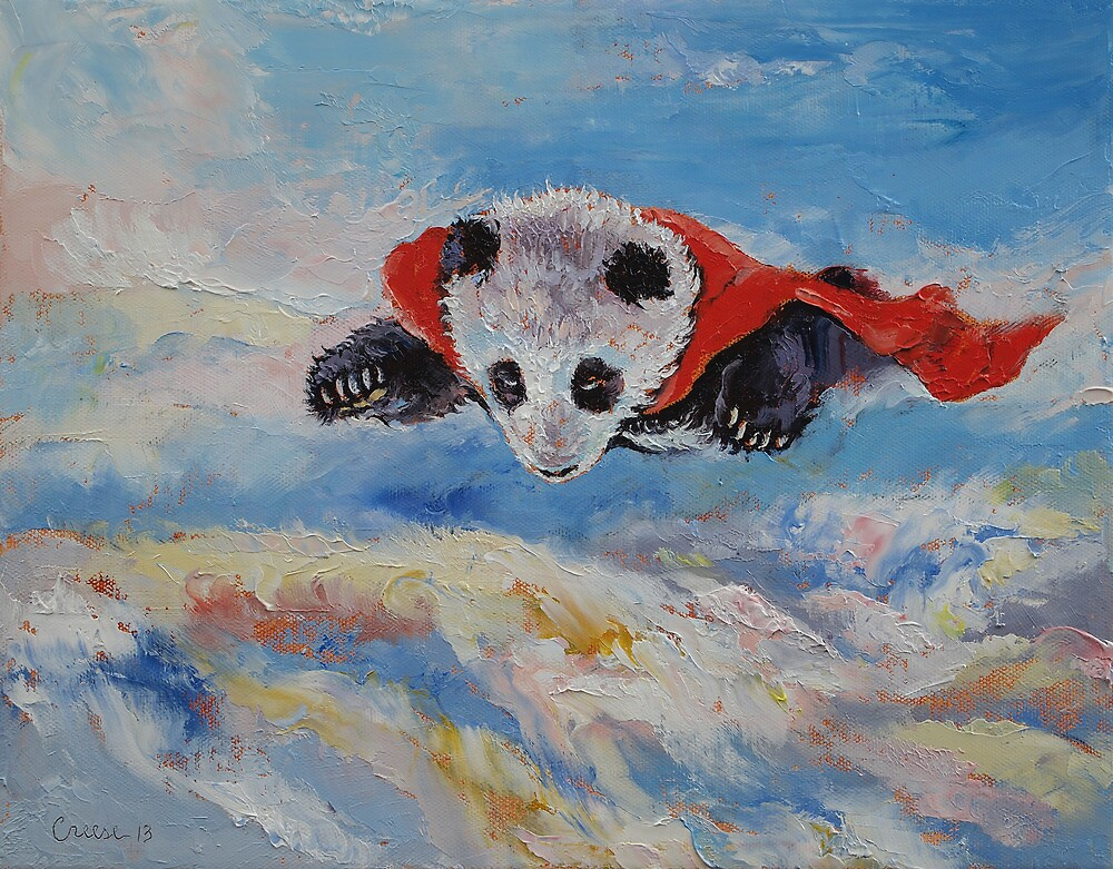 Panda Superhero by Michael Creese
