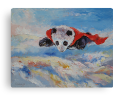 Panda Superhero Canvas Print