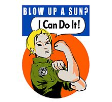 Blow up a sun? - I Can Do It! -iPad case by boogiebus